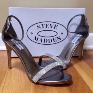 STEVE MADDEN Stecy Rhinestone Ankle Strap Sandals